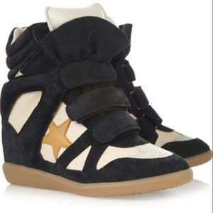 Isabel Marant Bayley High-Top Wedge Sneakers